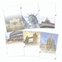 Motiv-Register Städte DIN A4 - 6-teilig          19431