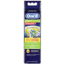 Oral-B opzetborstels Cross Action 8+2 antibacterial