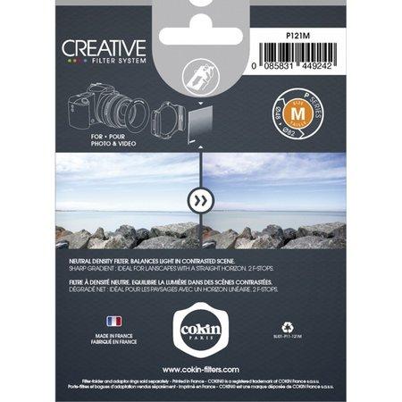 Cokin Filter P121M verloop grijs 2 ND 4