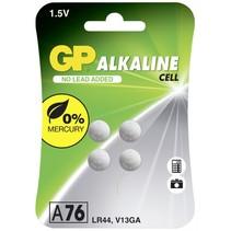 1x4 Alkaline LR44, 76A batterijen knoopcellen 1,5V