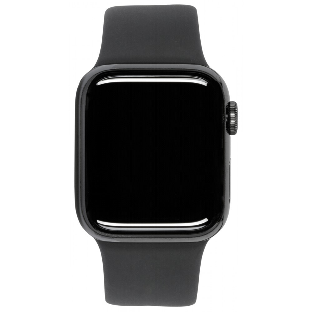 Afbeelding van Apple Watch Series 5 GPS + Cell 40mm Steel Case Black Sport Band