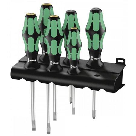 Wera 051181540015/6 Kraftform Plus lasertip schroevendraaierset