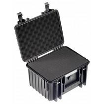 b&w outdoor case type 2000 zwart met schuiminleg