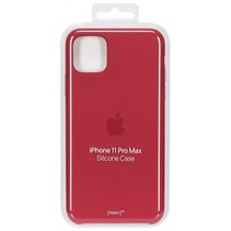 iphone 11 pro max siliconen case (product)rood