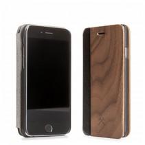 ecoflip business iphone 5 5s se walnoot+leder