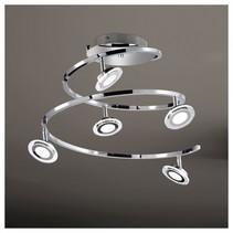 wofi led plafondlamp chloe 5lmp 4,5w vast ingebouwd 300lm