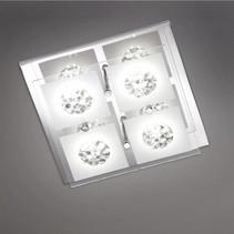 wofi led plafondlamp reims 4lmp 3w vast ingebouwd 200lm