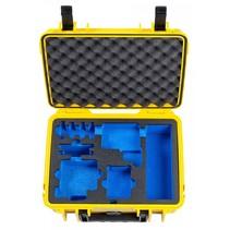 b&w gopro case type 1000 y geel met gopro 5 6 7 inlay