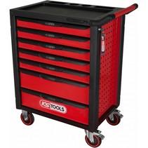racingline zwart/rood gereedschapswagen met 7 laden
