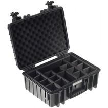 b&w outdoor case type 5000 zwart met compartimenten