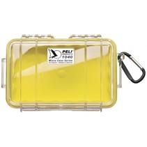 micro case 1040 geel/transparant