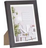 Henzo modern lijst d.bruin 15x20 hout incl. passepartout 8105204