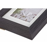 Henzo modern lijst d.bruin 20x20 hout incl. passepartout 8105404