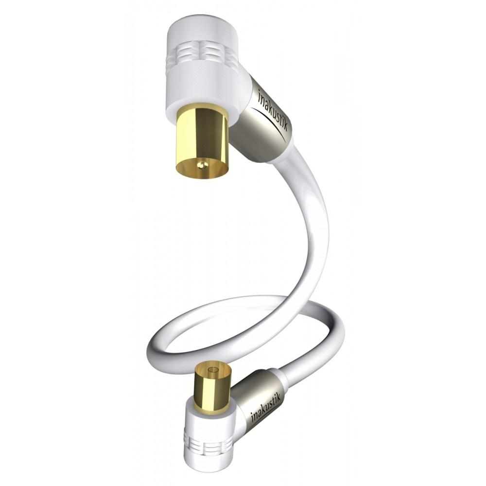 Inakustik in-akustik premium hdtv 90° antennekabel coax 100db 10,0 m
