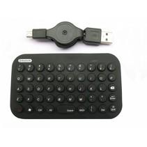bluetooth mini toetsenbord, zwart, us layout