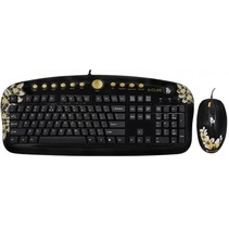 golden aloha - golden sunset - multimedia keyboard & g-laser mouse desktop set - de layout