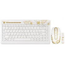 golden aloha - golden sunrise - 2.4ghz mini wireless multimedia keyboard set - de layout