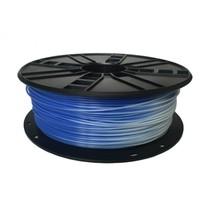 abs filament blauw naar wit, 1.75 mm, 1 kg