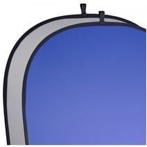 2in1 achtergronddoek grijs/blauw 180x210cm