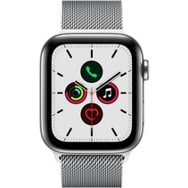watch series 5 gps + cell 44mm steel case milanese loop
