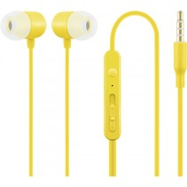 acme he21y in ear headphones met microfoon geel