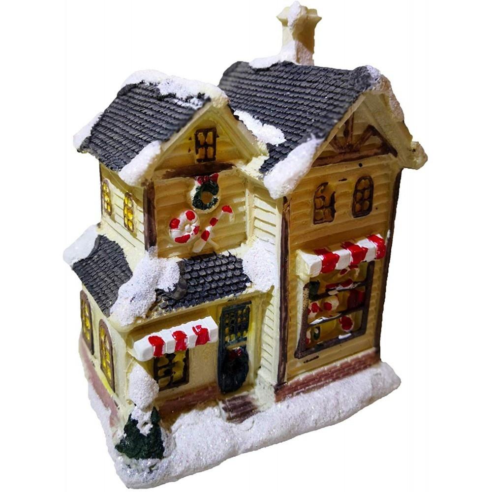 Decoratief winterhuis met verlichting M1