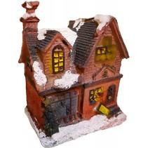 Decoratief winterhuis met verlichting