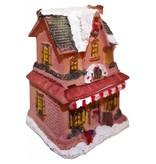 Decoratief winterhuis met verlichting M7