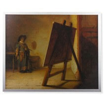 Rembrandt framed print De schilder in zijn atelier