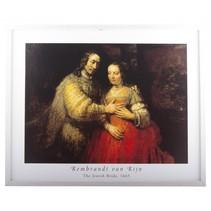 Rembrandt framed print Het Joodse bruidje