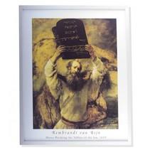 Rembrandt framed print Mozes en de tafelen der wet
