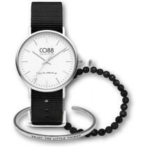 Gift Set Horloge Geschenkset + Stalen en Natuurstenen armbanden