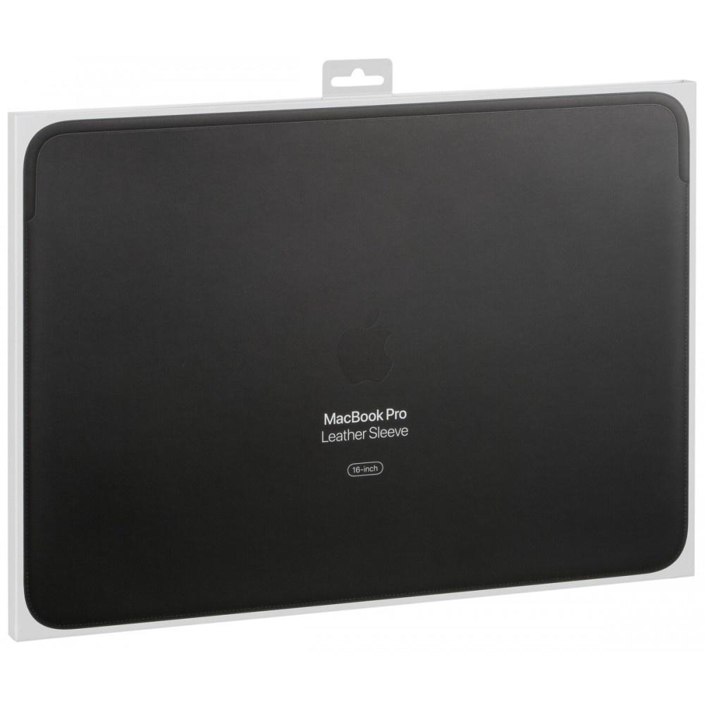 Apple leather sleeve 16-inch macbook pro zwart mwva2zm/a