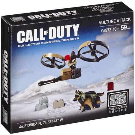 Mega Bloks Call of Duty VULTURE ATTACK with German Shepard figure