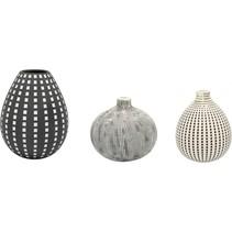vase arezzo 3er-set zwart-wit, keramiek 8140070