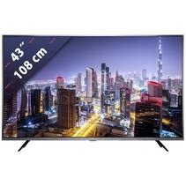 L43M5 LED-TV 108 cm 43 inch Energielabel: A (A+++ - D) DVB-T2, DVB-C, DVB-S, UHD, Smart TV, WiFi Zwart