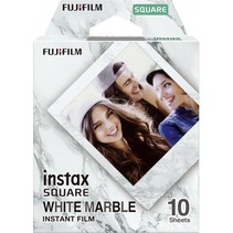 1  instax square film white marble