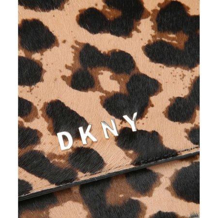 DKNY Crossbody tas rundleer, bont zwart/beige R93HTE05 BGD