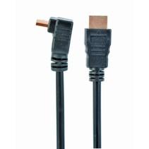 high speed hdmi kabel met ethernet, haakse connector, 3 meter