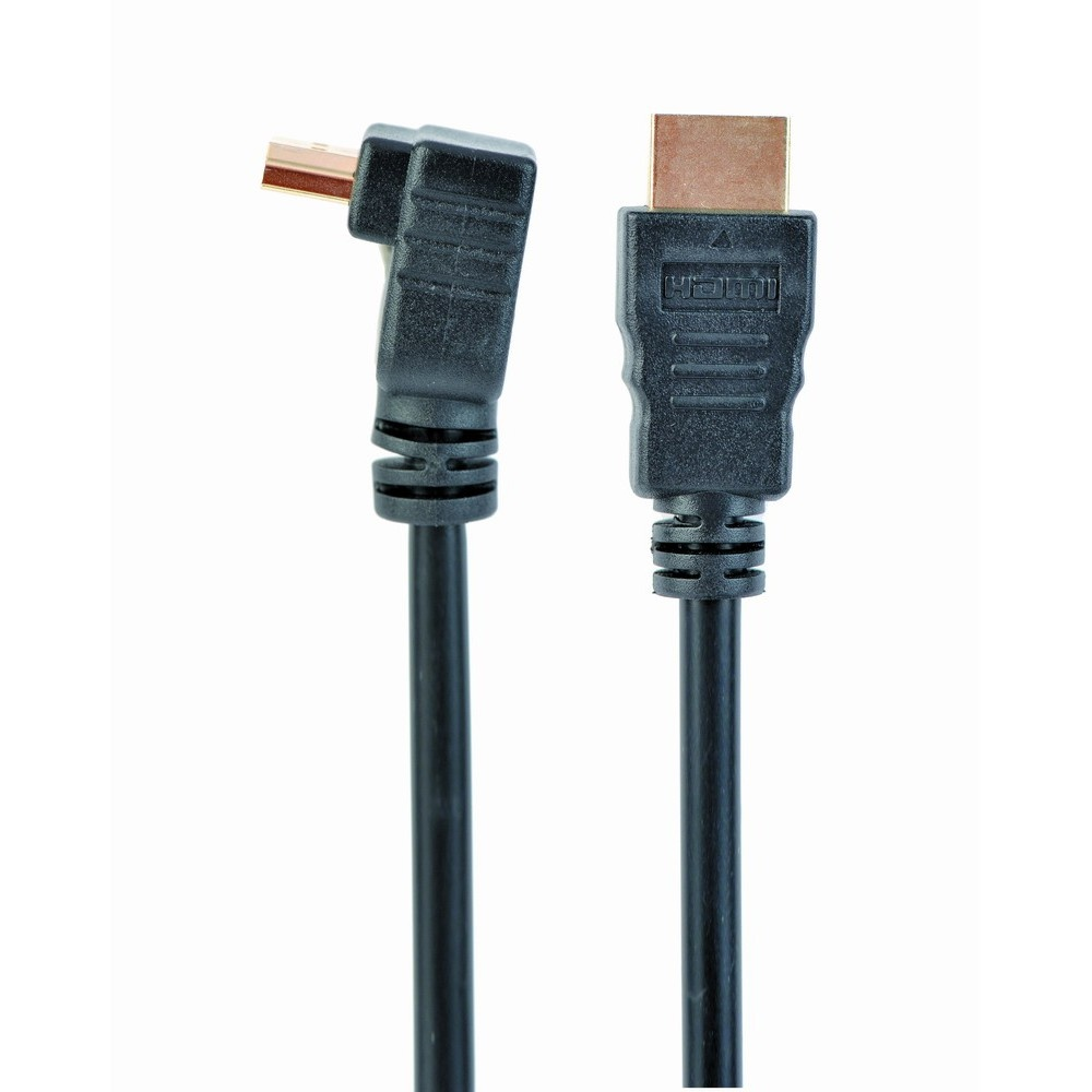 CableXpert high speed hdmi kabel met ethernet, haakse connector, 3 meter