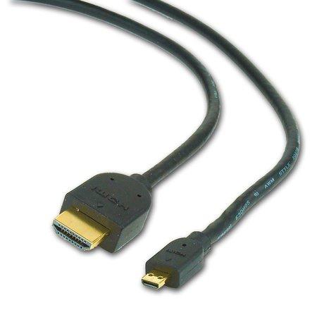 CableXpert hdmi male naar micro d-male zwarte kabel, 4.5 meter