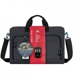 Rivacase 8058 zwart laptop bag 17.3 +wireless mou