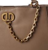 DKNY Linton Shopper rundleer taupe R93ARD84-DUN