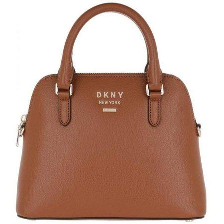 DKNY Whitney Handtas gegreineerd rundleer caramel R93DHE26-CAR