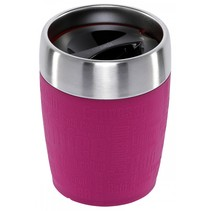 travel cup thermosbeker rvs 0,2 l, framboos