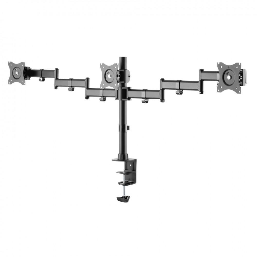 Digitus 3-voud. monitorstandaard met klembevestiging 15-27