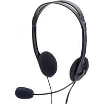 multimedia stereo headset met microfoon 1,8m