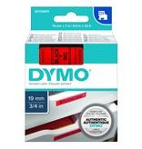 Dymo d1 printlint 19 mm x 7 m zwart op rood