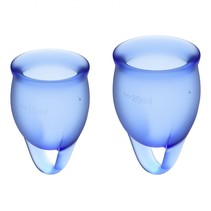 feel confident menstruatiecup donkerblauw