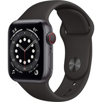 watch series 6 gps + cell 40mm gray alu black sport band